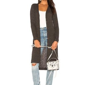 Michael Stars Elbow Patch Long Sleeve Duster Cardi